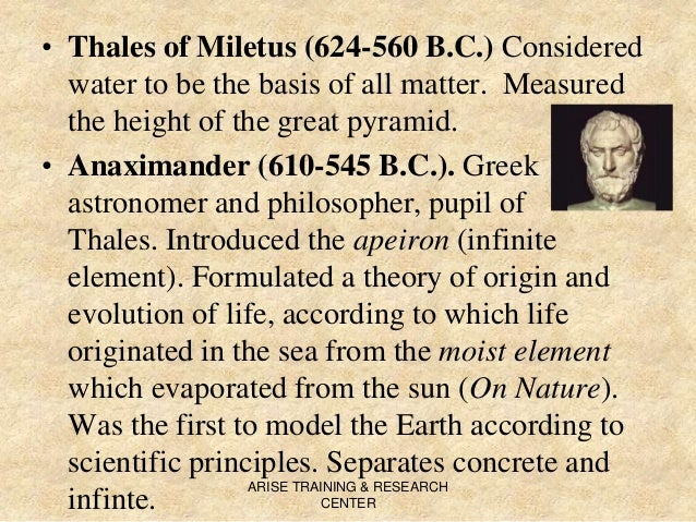 Anaximander of Miletus and His Philosophy on the Origin of All Things