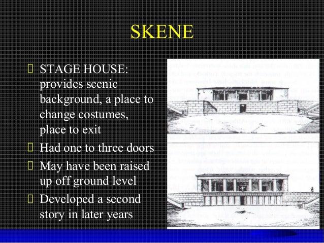 what does skene mean in greek theatre