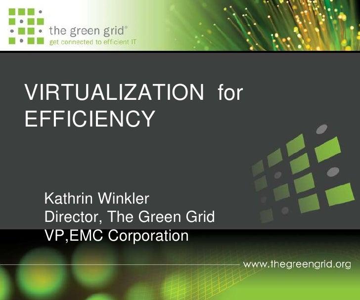 Virtualización para la Eficiencia