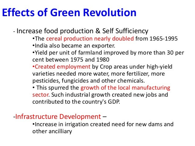 Essay on the Importance of Green Revolution for India (1500 Words)