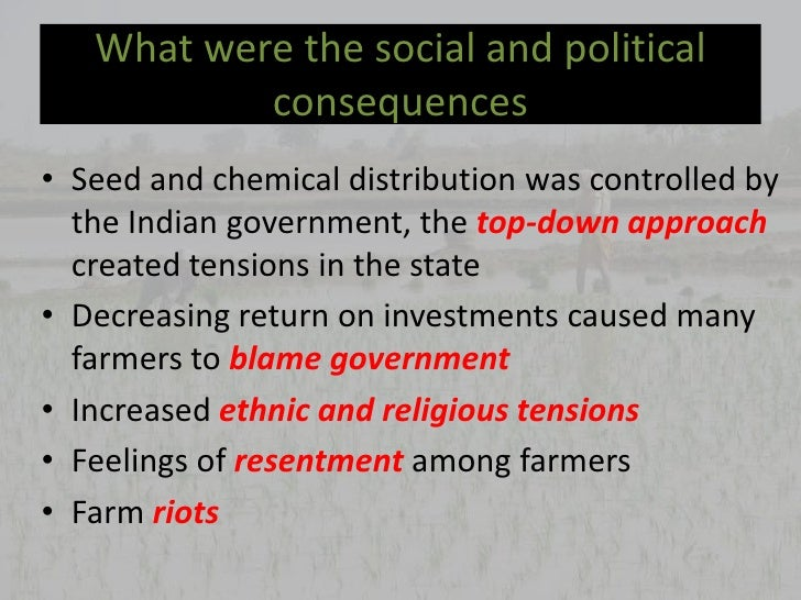 A Brief Essay on Green Revolution in India - Agriculture Condition, Food Problem- 500 to 1000 words