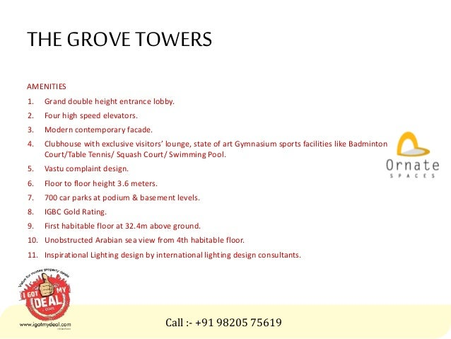 The Grove Towers In Andheri West Mumbai By Ornate Spaces