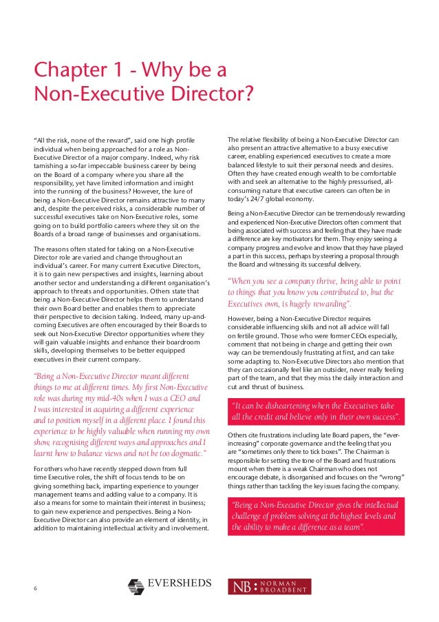 What Are The Key Differences Between An Executive And A Non >> The Guide For Non Executive Directors
