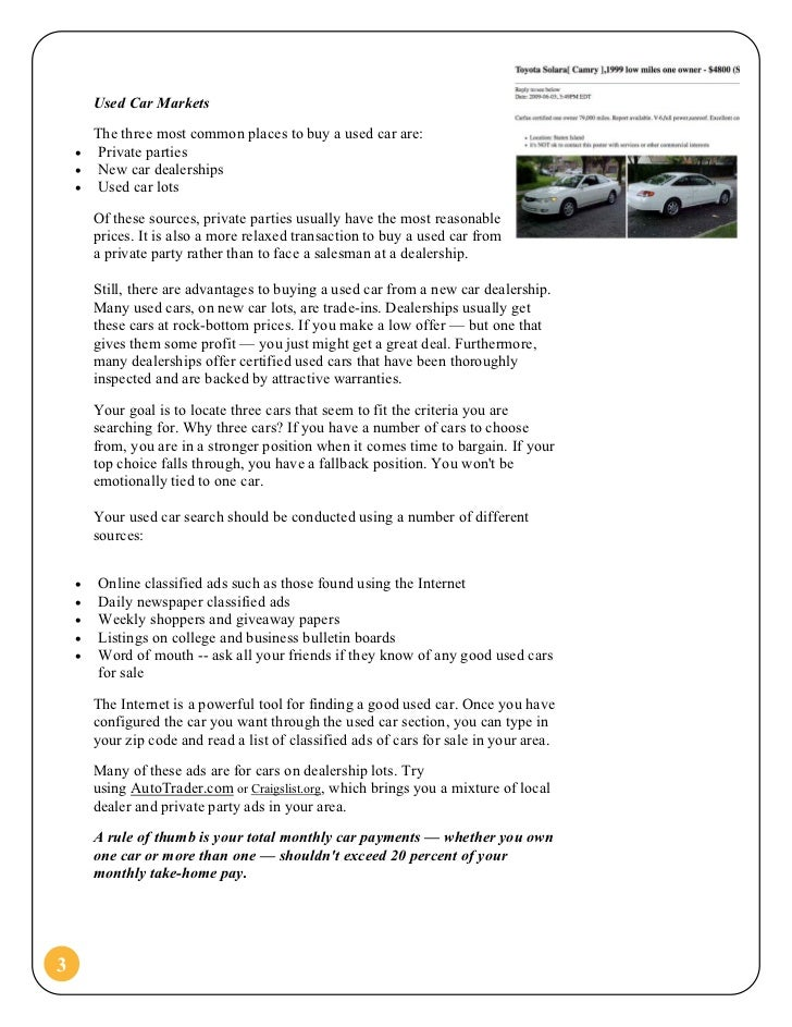 The Guide To Buying A Used Car - What is the true invoice price on a car shop now pay later online stores