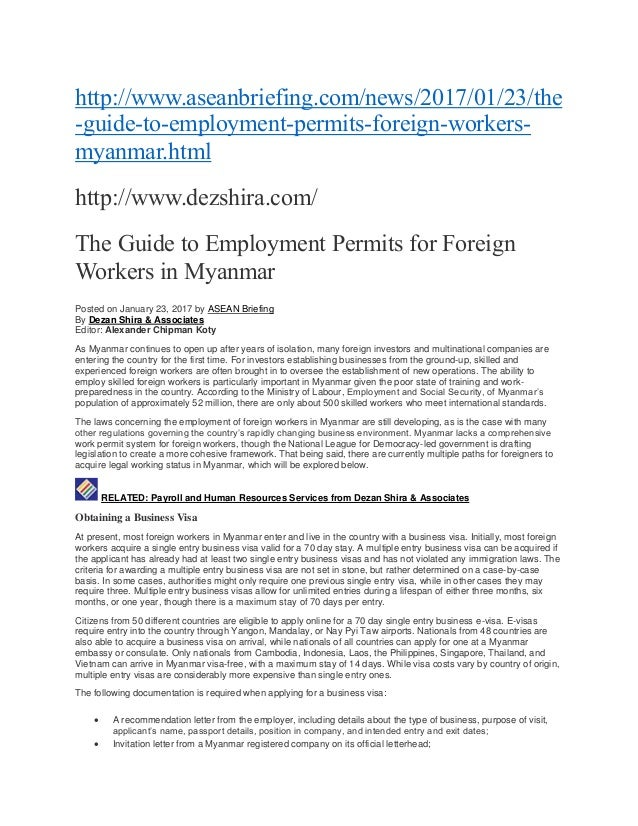 The guide to employment permits for foreign workers in myanmar httpaseanbriefingnews201701 stopboris Choice Image