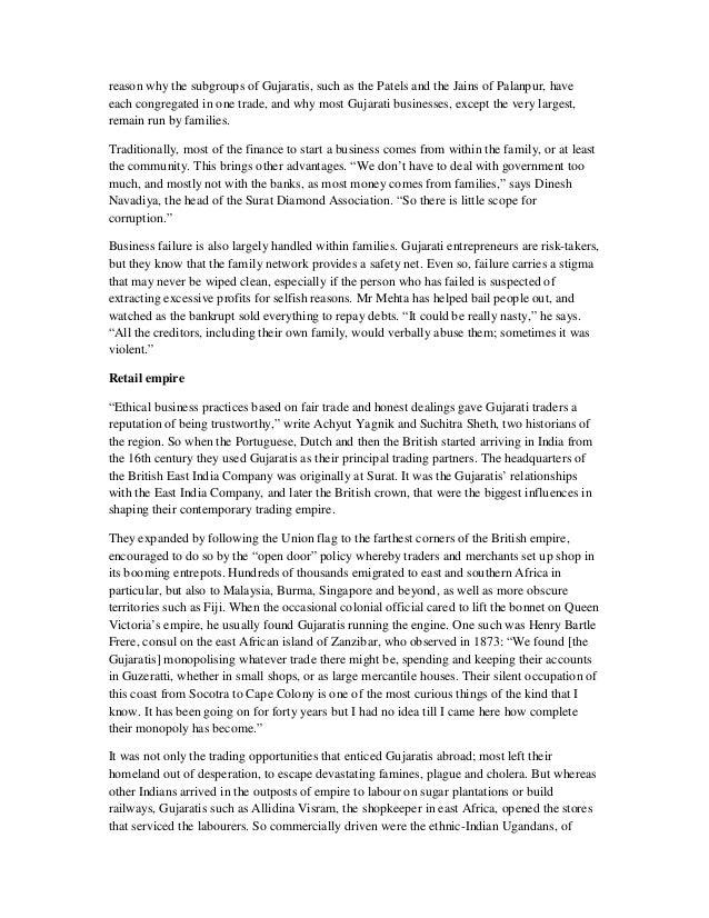 The Gujarati Way - Go Global , The Economist 19th Dec 2015