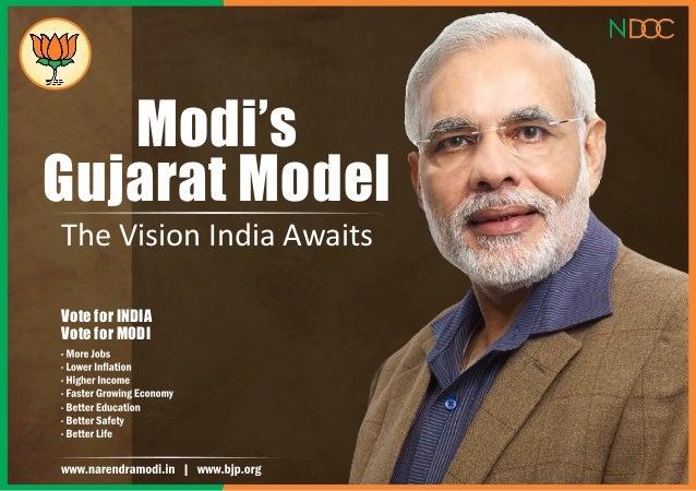 Modi's Gujarat Model The Vision India Awaits Vote for INDIA Vote for MODI