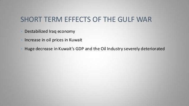 the gulf war 7 short term effects of the gulf war