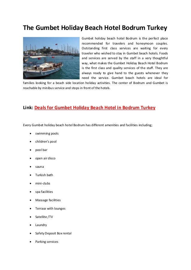 The Gumbet Holiday Beach Hotel Bodrum Turkey                                         Gumbet holiday beach hotel Bodrum is ...