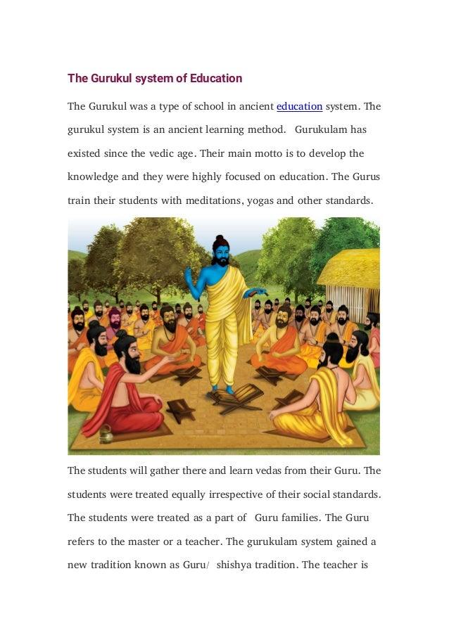 images gurukul system education