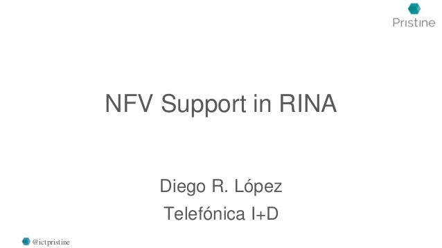 NFV Support in RINA Diego R. López Telefónica I+D @ictpristine