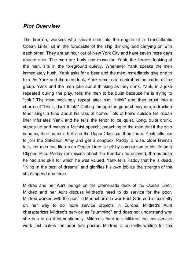 summary of the hairy ape by eugene o neill