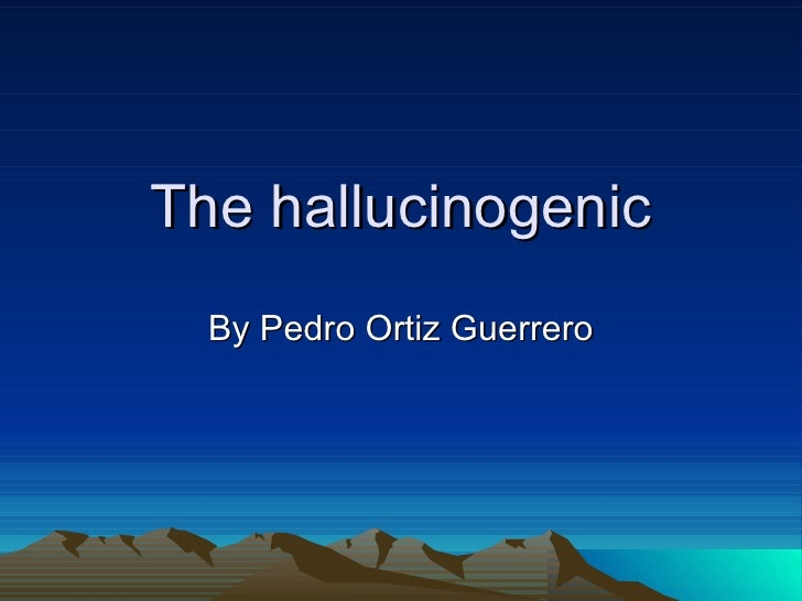 The hallucinogenic By Pedro Ortiz Guerrero