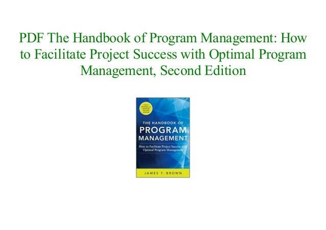 The Handbook Of Program Management Pdf