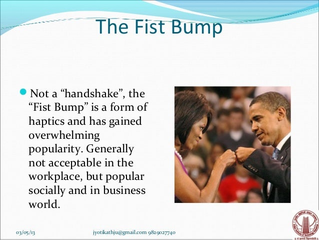 What does fist bump mean