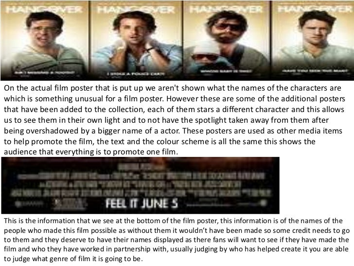 movie analysis the hangover Summarizing the plot of a movie like hangover 3 is a little pointless let's face it,  the plot is pretty much here just to get us from one joke to the next and to throw.