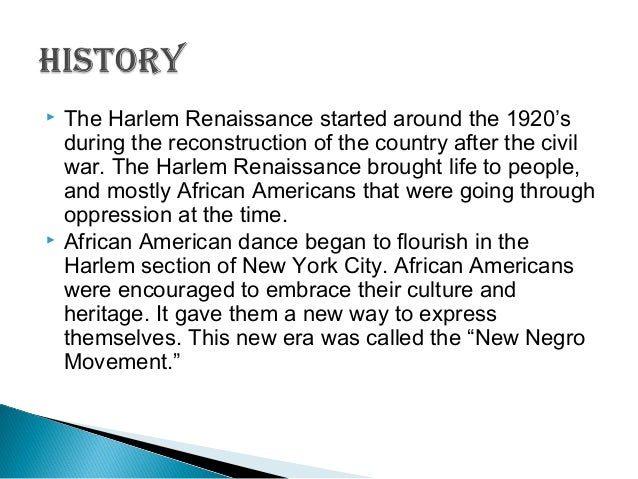 essay on the harlem renaissance Harlem renaissance help give african american visibility and opportunity for  publications these publications published poetry, short stories, and essays sent  in.