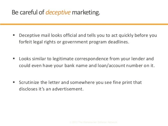  Deceptive mail looks official and tells you to act quickly before you forfeit legal rights or government program deadlin...