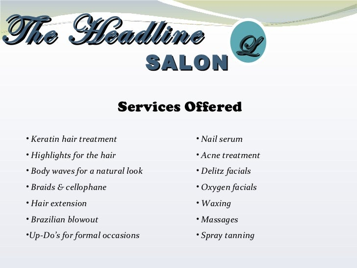 The headline salon for About salon services