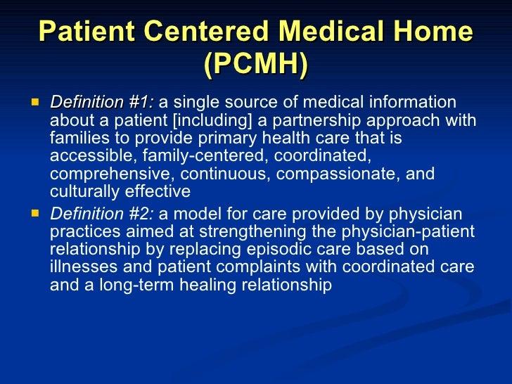Medical home model defined