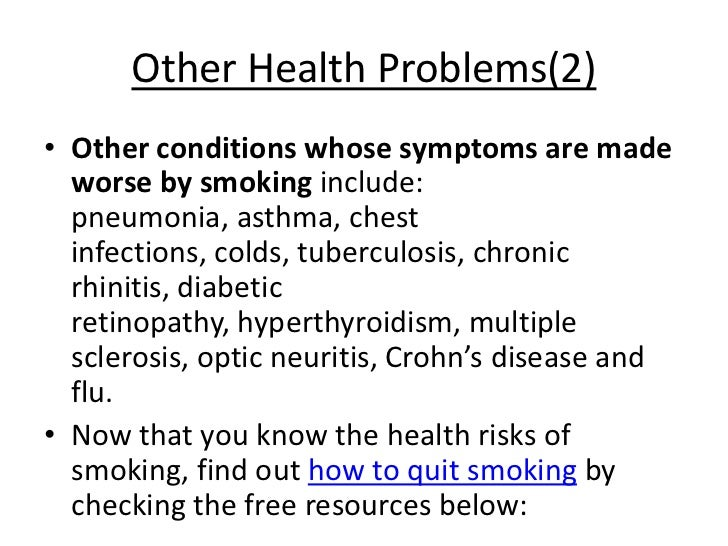 attention getter for how bad smoking is to your health Why is smoking cigarettes bad for you with continued smoking, your tissues incur damage  and it affects eye health, increasing your chances of cataracts and.