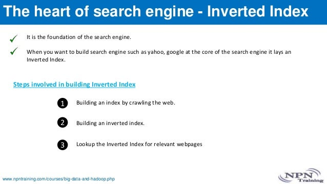 The heart of search engine - Inverted Index It is the foundation of the search engine. When you want to build search engin...