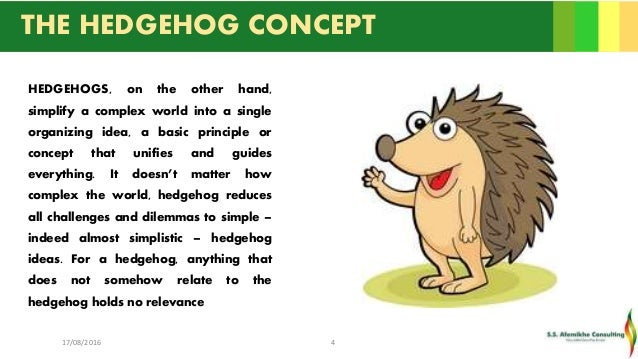 Good to Great: The Hedgehog Concept