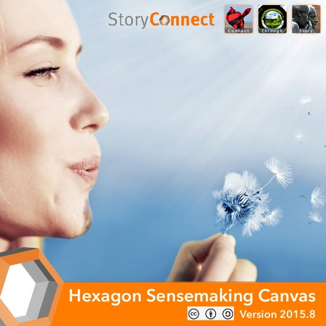 Co n n e c t S t o r yTh ro u g h Hexagon Sensemaking Canvas Version 2015.8