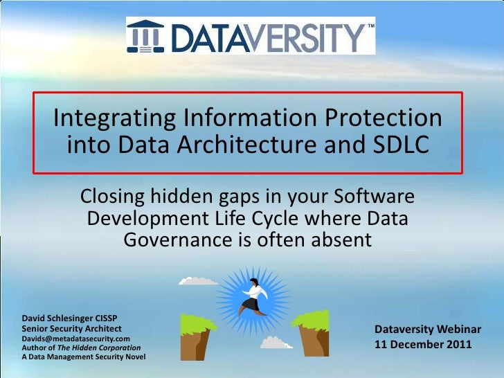 Integrating Information Protection        into Data Architecture and SDLC               Closing hidden gaps in your Softwa...