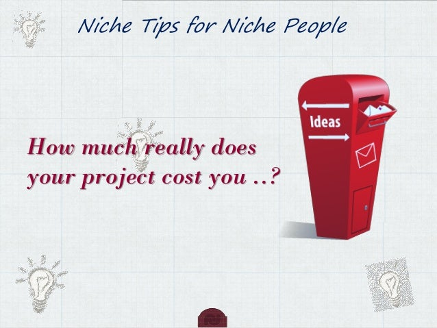 Niche Tips for Niche People How much really does your project cost you ..?