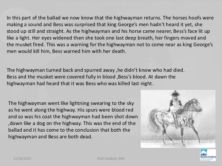 the highwayman full poem