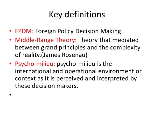 The history and evolution of foreign policy analysis