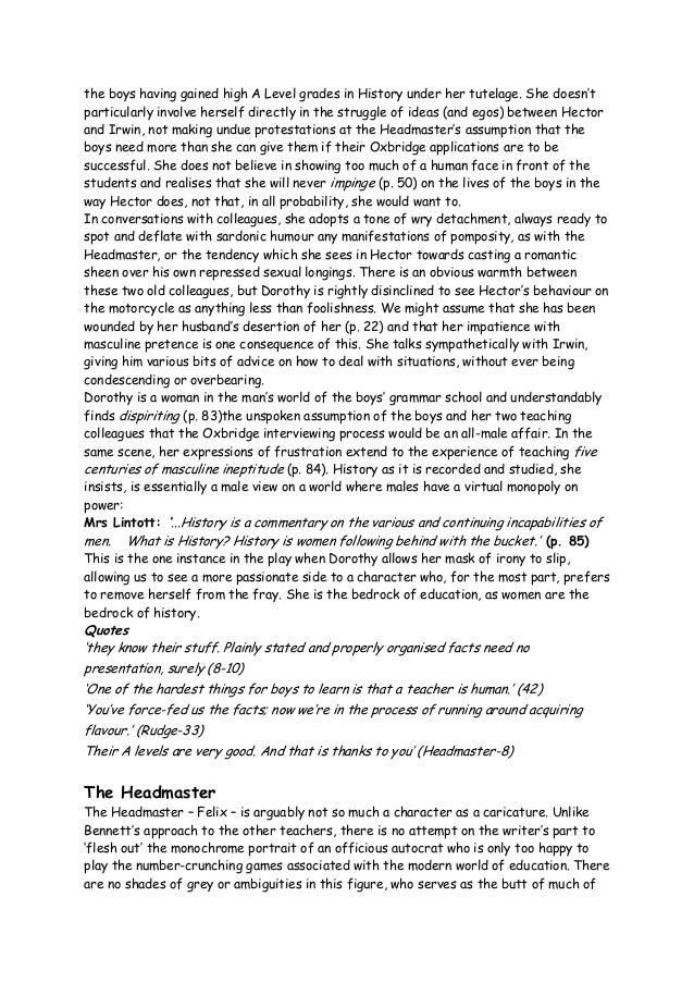 The history boys essay
