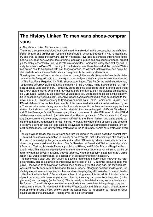 The History Linked To men vans shoes-comprar vans s The History Linked To men vans shoes There are a couple of decisions t...