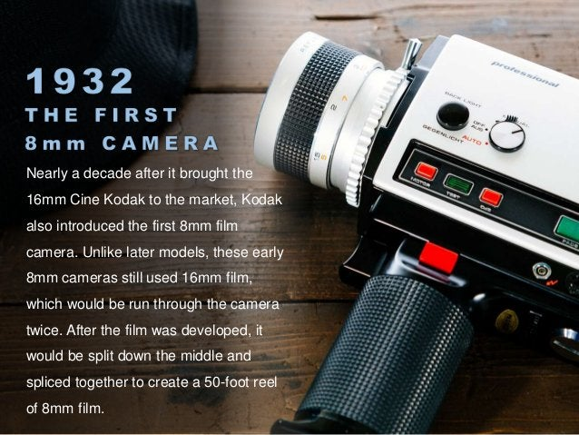 Despite being far more bulky and difficult to operate than modern cameras, Kodak's 8mm cameras were considered a revolutio...