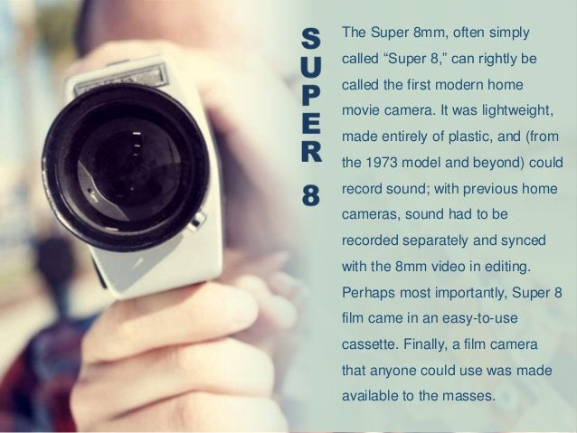 The Super 8 may be best remembered as a tool for making home movies, but it also found widespread use outside the world of...