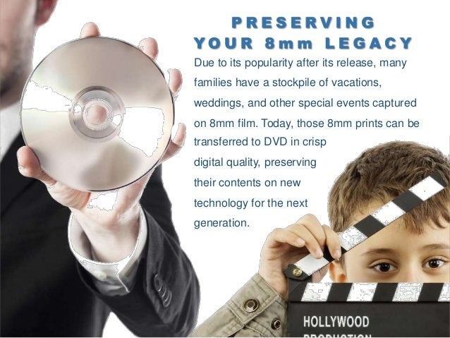 8mm to DVD specializes in transferring 8mm film, videotapes, photograph slideshows, and more to a modern digital format. T...