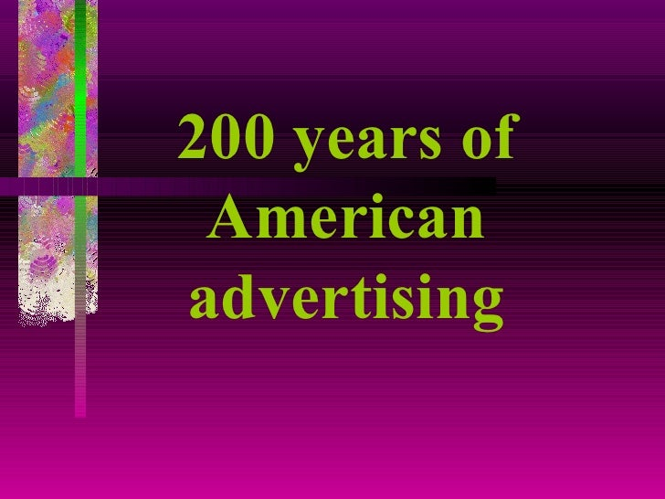 200 years of American advertising