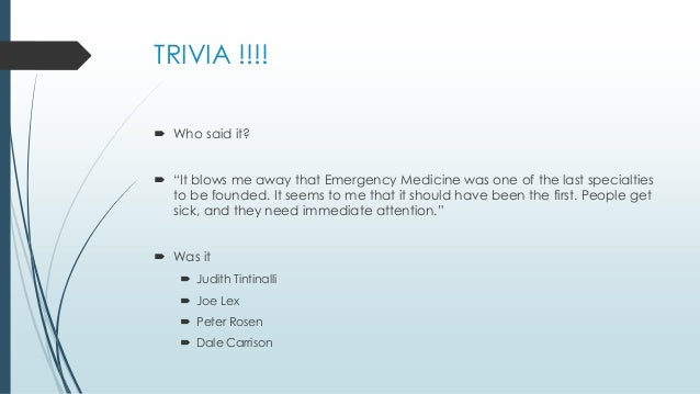 """the history of emergency medicine essay The history of emergency medicine 1 """"in the 1950s, both the presence and absence of health insurance drove people to emergency departments"""" – brian zink md."""
