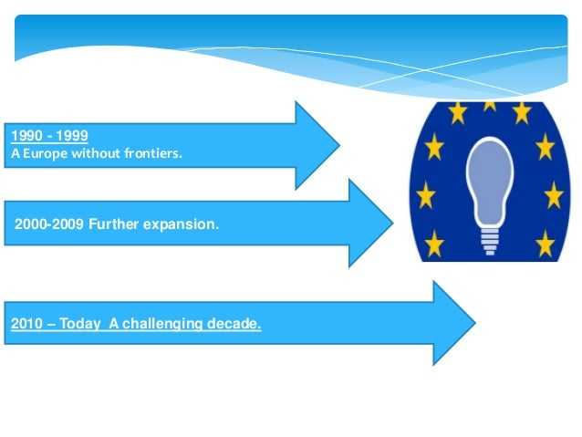 2000-2009 Further expansion. 1990 - 1999 A Europe without frontiers. 2010 – Today A challenging decade.