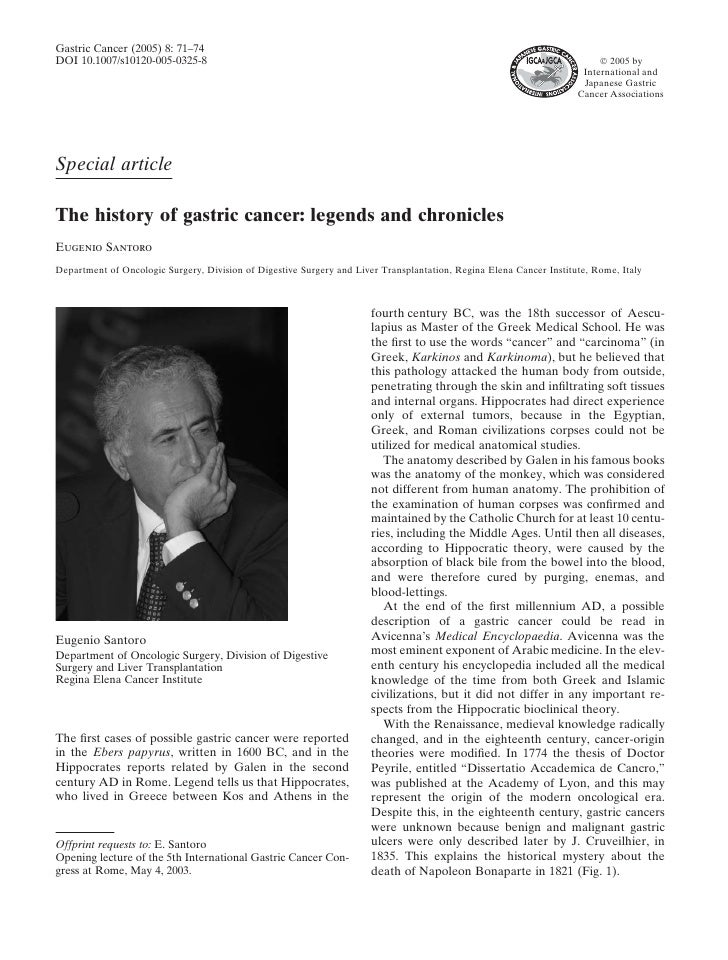 Gastric Cancer (2005) 8: 71–74 DOI 10.1007/s10120-005-0325-8                                                              ...