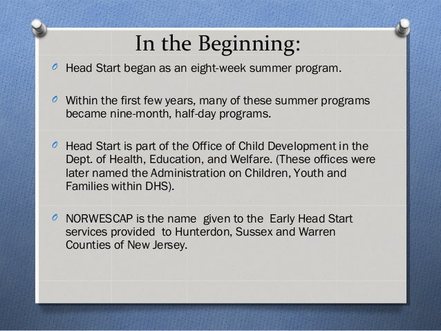 The history of head start
