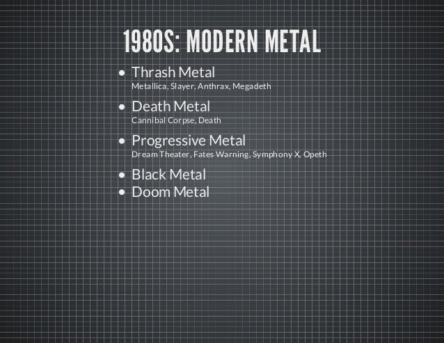 history of heavy metal essay Heavy metal music the history of the world in six glasses a limited time offer get authentic custom essay sample written strictly according to your.