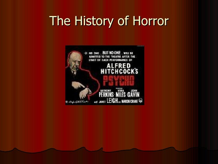The History of Horror