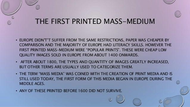 The History of Media.