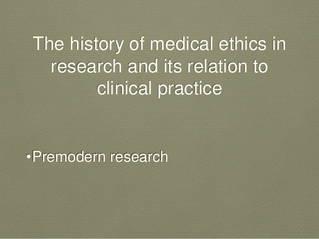 The morality of medical experimentation on