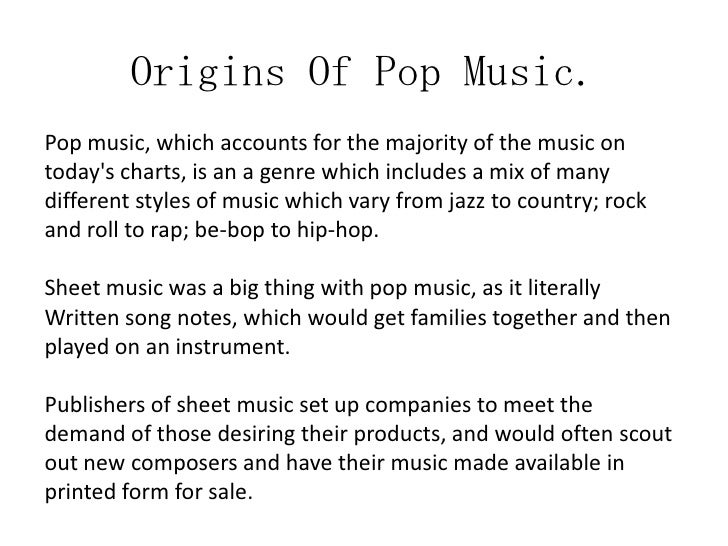 Definition of Popular Music
