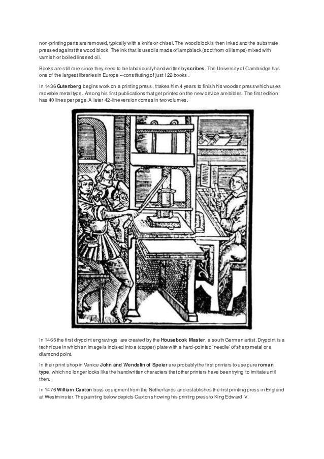The History of Printing Press Slide 2