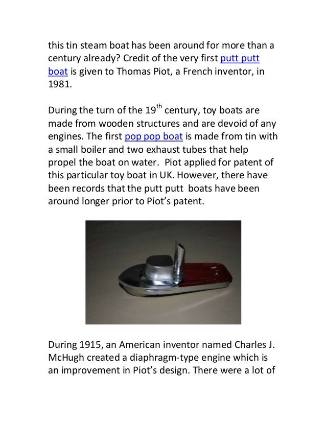 Coil Boiler Pop Pop Boat ~ The history of putt boats
