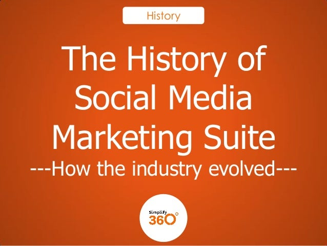 History  The History of Social Media Marketing Suite  ---How the industry evolved---